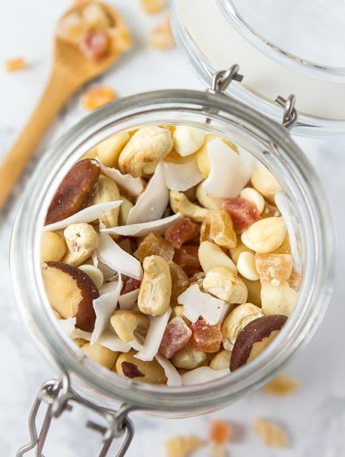 Sunshine Trail Mix with Coconut & White Chocolate