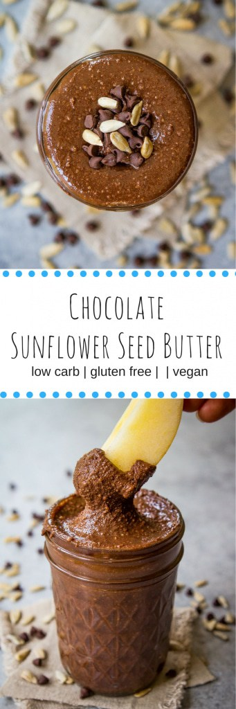 Chocolate Sunflower Seed Butter (gluten free, vegan, and low carb)
