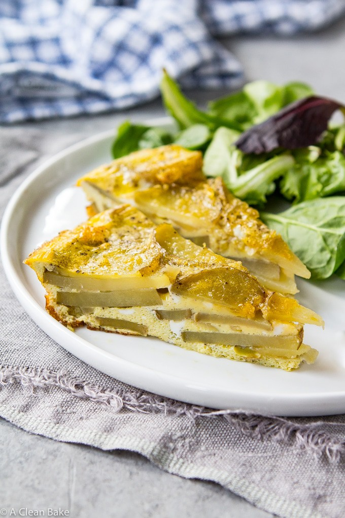 Spanish Tortilla (Tortilla de Espanola) aka Spanish Baked Omelette (Gluten Free, Paleo and Whole30)