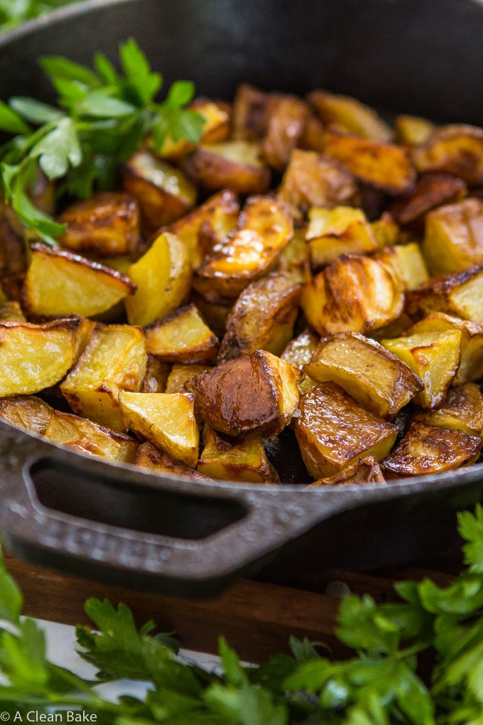 Easy Roasted Potatoes (gluten free, vegan, paleo)