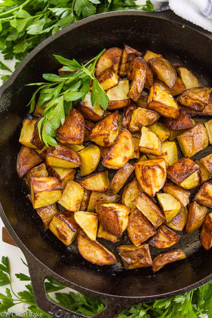 Perfect Roasted Potatoes Super Crispy Made In The Oven A Clean Bake