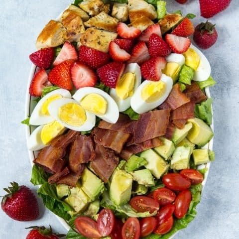 Strawberry Cobb Salad (Dairy Free, Paleo)
