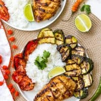 Grilled Tandoori Chicken and Vegetables