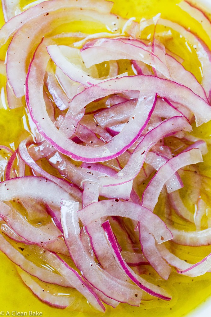 Easy Marinated Onions with Sumac (gluten free, paleo, vegan, low carb)