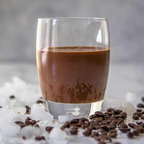 Mocha Protein Smoothie (gluten free, paleo, vegan adaptable and refined sugar free)-9