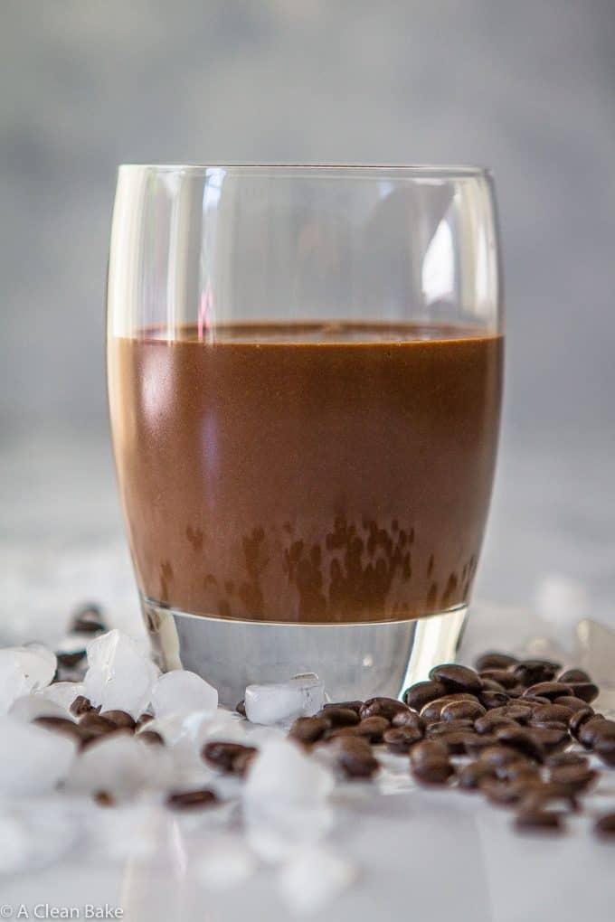 Mocha Protein Smoothie (gluten free, paleo, vegan adaptable and refined sugar free)-9