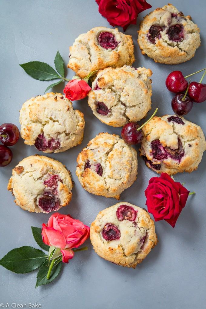 Paleo Cherry Scones (Sugar free, gluten free, low carb)-16