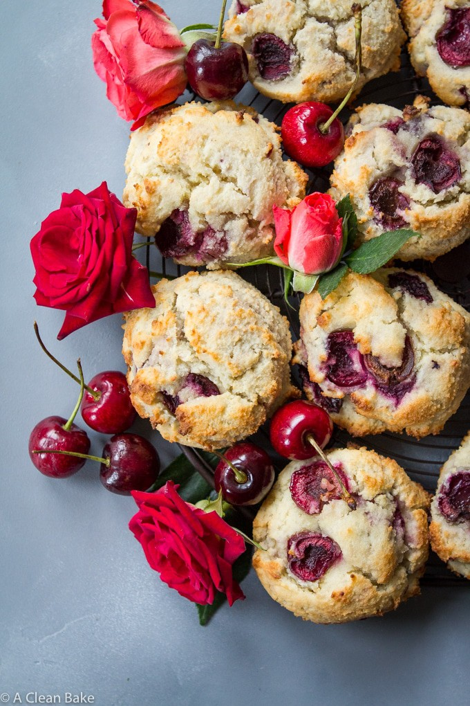 Paleo Cherry Scones (Sugar free, gluten free, low carb)-16