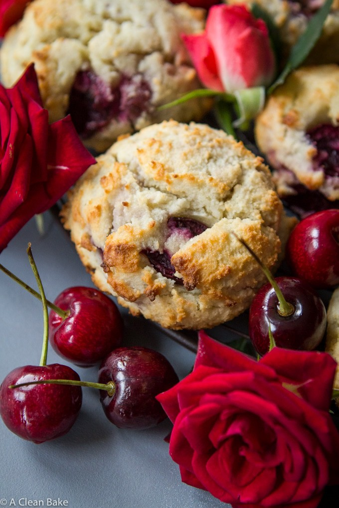 Grain Free Cherry Scones (Gluten Free, Paleo, and Sugar Free)