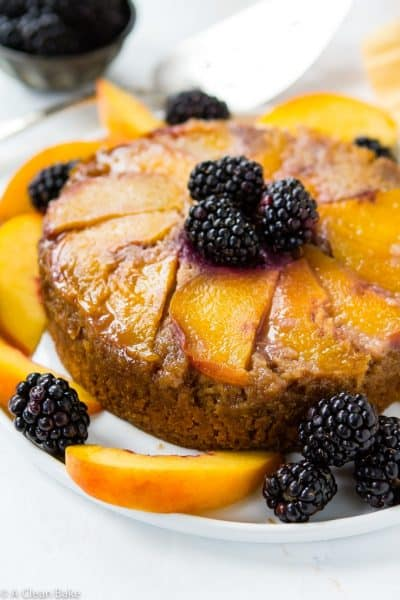 Peach Upside Down Cake (Gluten Free and Paleo)