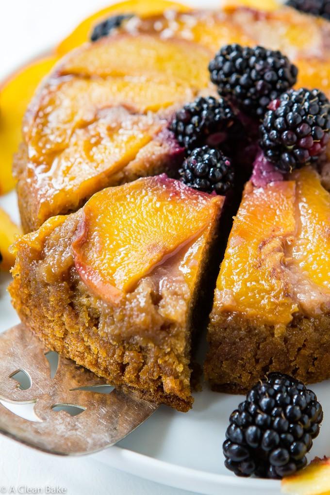 Paleo Peach Upside Down Cake (gluten free, dairy free)