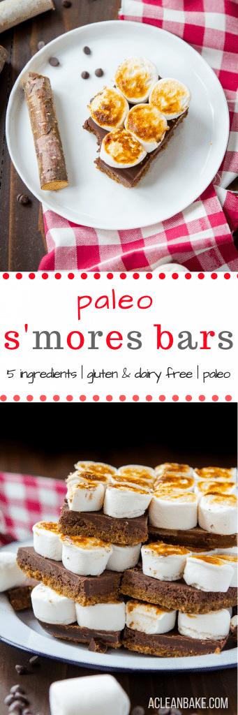 Paleo SMores Bars (gluten free, dairy free)