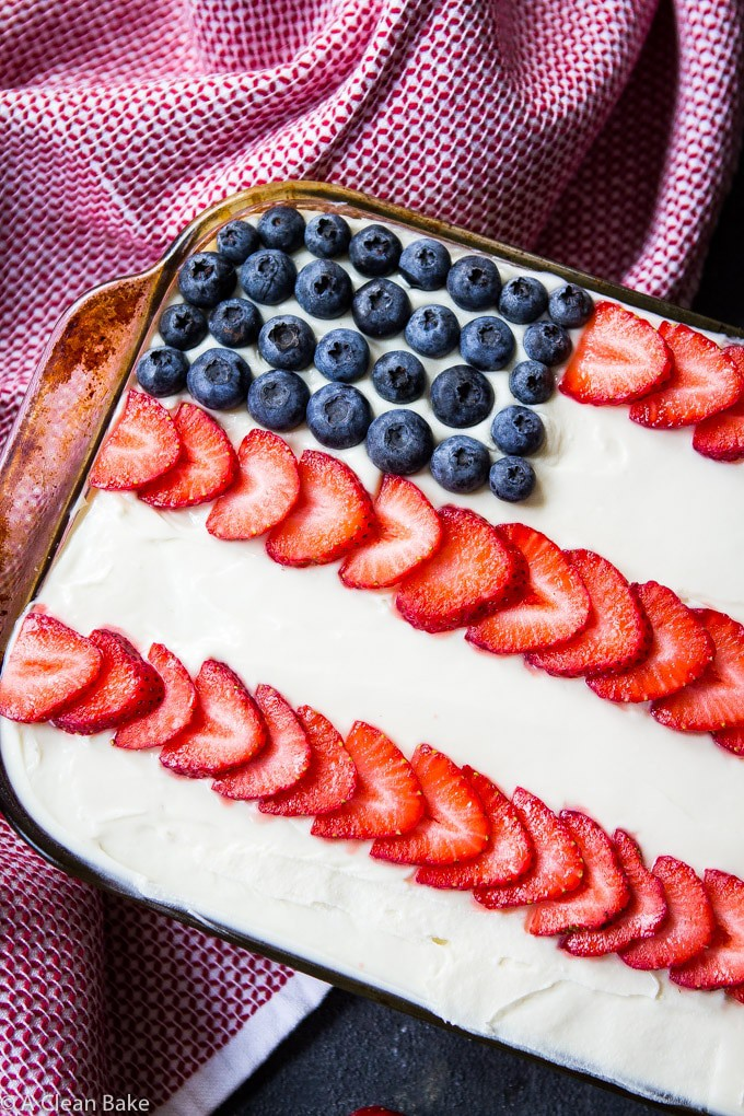 Paleo Sheet Cake or Flag Cake (gluten free, paleo, naturally sweetened)-10