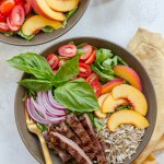 Summer Steak Salad with Peaches and Basil Vinaigrette