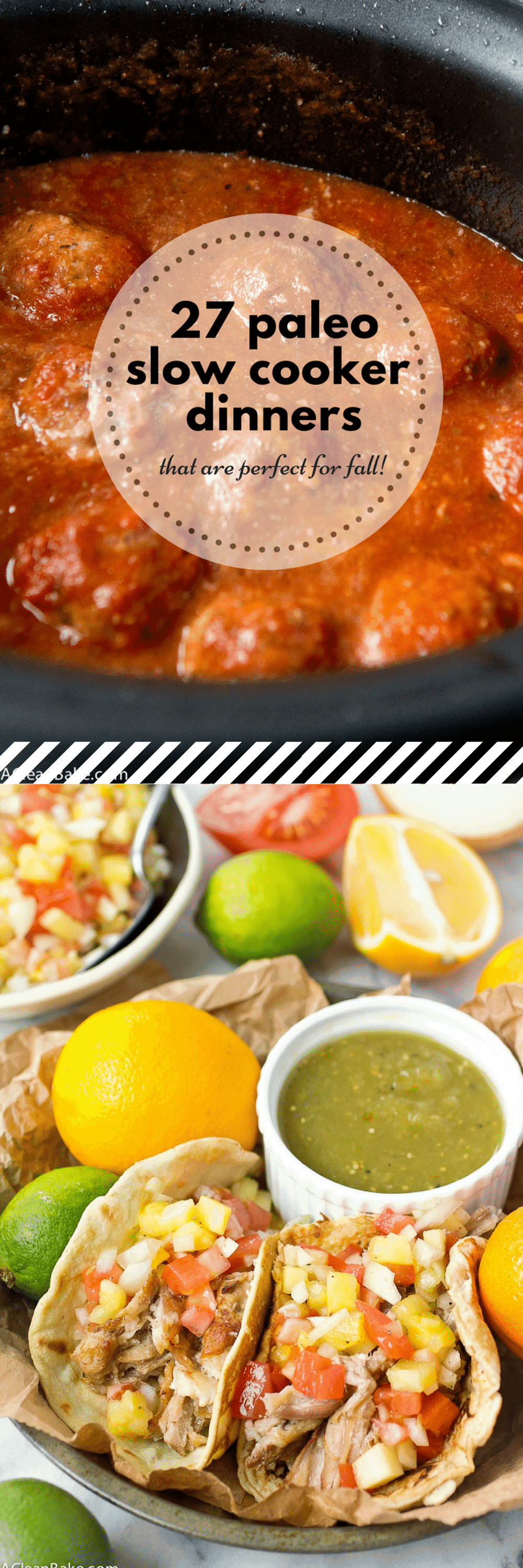 Healthy Paleo Slow Cooker Recipes for Dinner This Fall #glutenfree #paleo #dinner #slowcooker #easy #recipes #crockpot #lowcarb #whole30