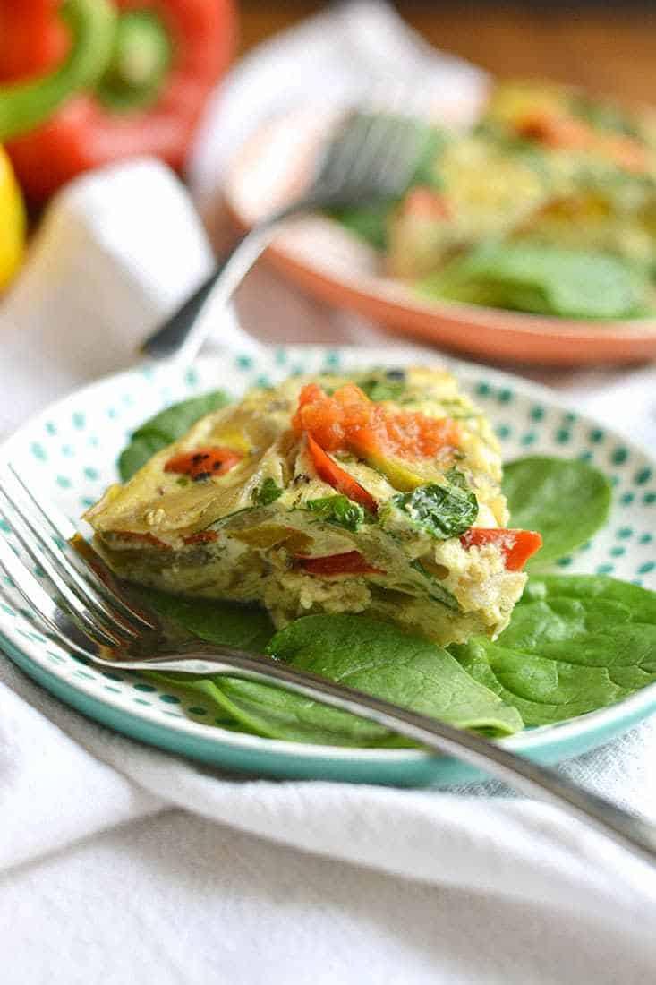 Healthy Paleo Slow Cooker Dinners - Veggie Omelette
