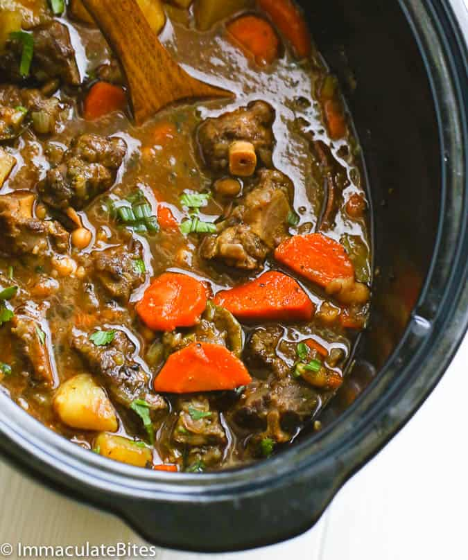 Healthy Paleo Slow Cooker Dinners - Oxtail Soup