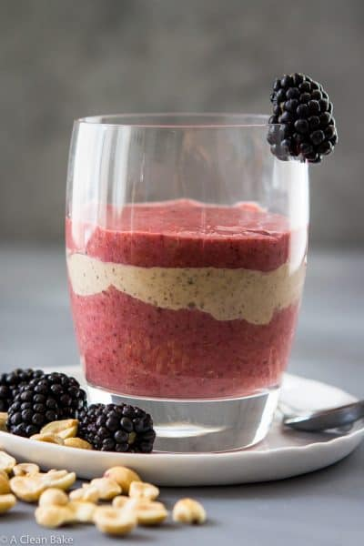 Peanut Butter and Jelly Chia Pudding Parfait (Gluten Free and Paleo)