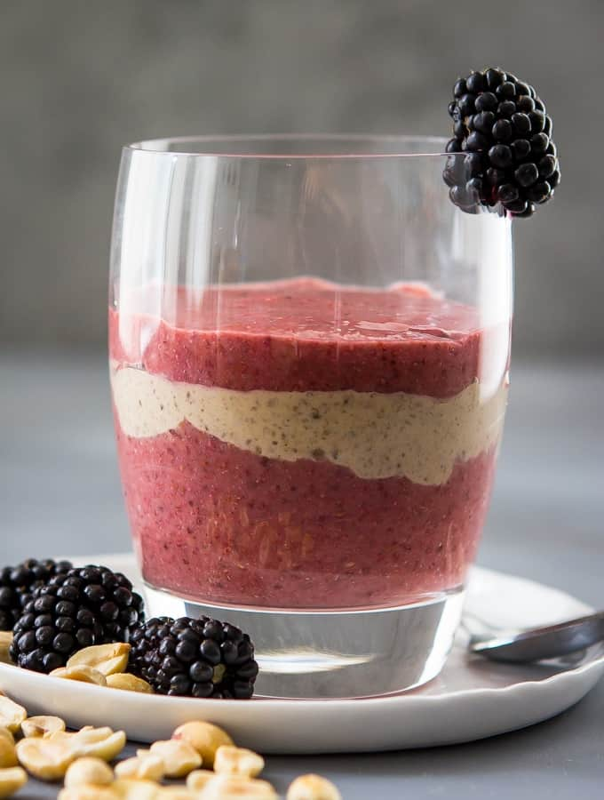 Peanut Butter and Jelly Chia Pudding Parfait