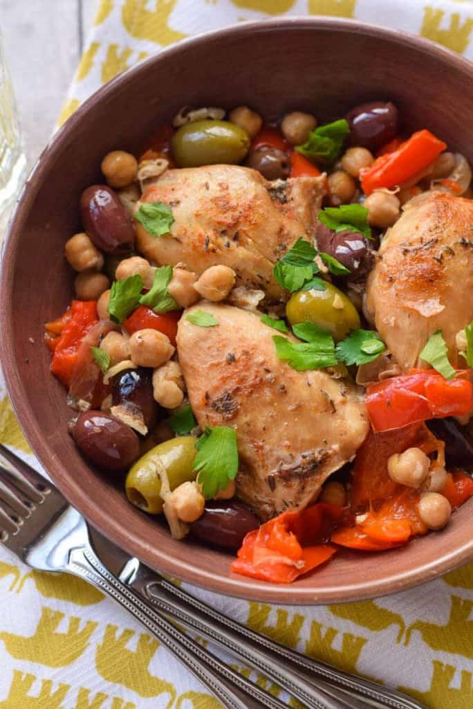 Healthy Paleo Slow Cooker Dinners - Chicken with Olives