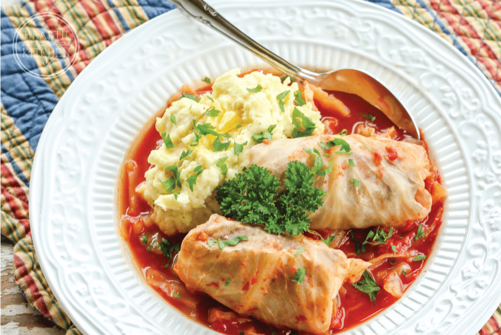 Healthy Paleo Slow Cooker Dinners - Stuffed Cabbage Rolls