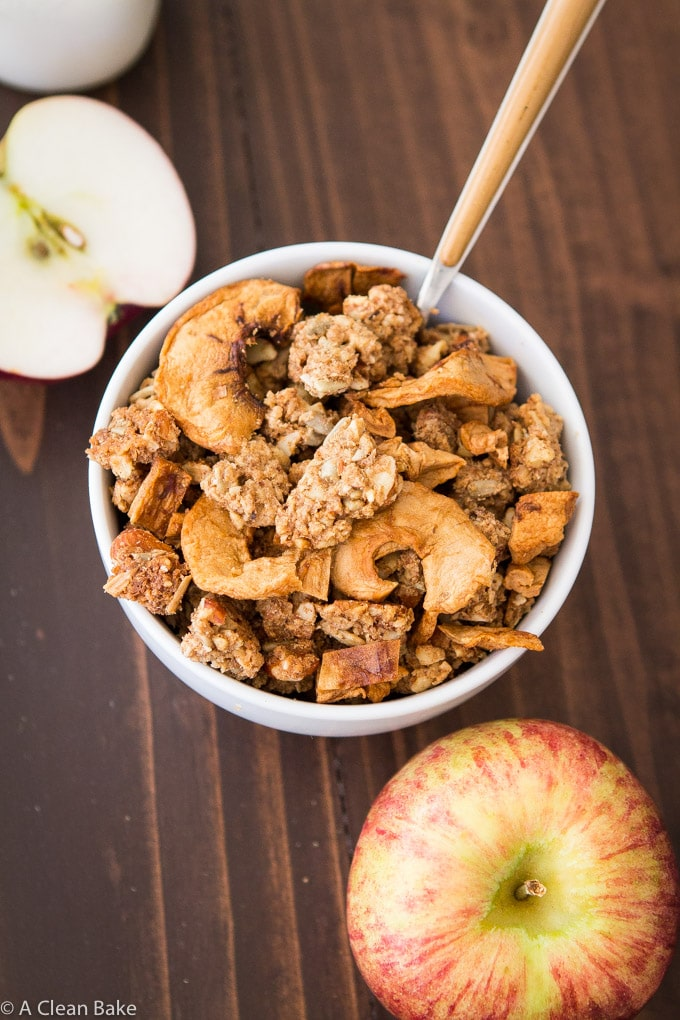 Apple Pie Paleola (Grain Free Granola that is also gluten free, vegan, and low carb)