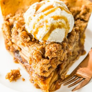 Paleo Apple Pie with Crumb Topping (gluten free, grain free, dairy free)
