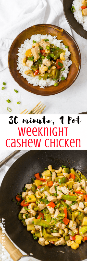 Skip the takeout! Cashew Chicken is so easy to make at home, in only one pan. Plus, it's on the table in 30 minutes or less! #glutenfree #paleo #recipe #chicken #dinner #30minutemeals #takeoutfakeout-8
