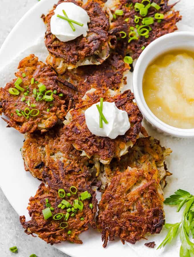 Potato Latkes (Egg Free, Gluten free, Vegan)