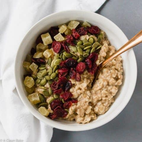 Refrigerator Oatmeal (#glutenfree #wholegrain #makeahead #breakfast #recipe)