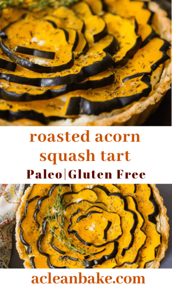Layers of beautifully sweet and savory acorn squash in a pie shell.