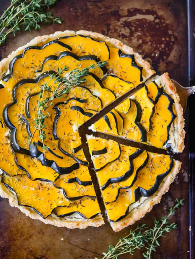 Roasted Acorn Squash Tart