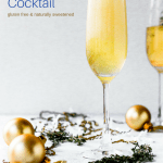 Ginger Apple Champagne Cocktail or Mocktail (naturally sweetened!) #drink #champagne #apple #ginger #glutenfreerecipe #glutenfreecocktail #naturallysweetenedcocktail #cocktailrecipe #newyearseverecipe #newyearseve #mocktail #alcoholfree #mocktailrecipe