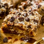 A gluten free and paleo version of the classic magic cookie bars