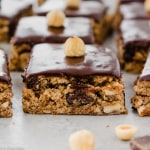 Hazelnut Chocolate Chip Cookie Bars (Gluten Free, Paleo)