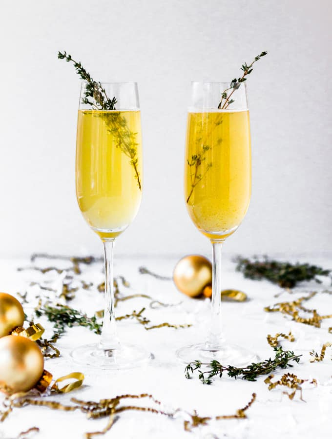 Ginger Apple Champagne Cocktail (and a 5-Minute Survey)