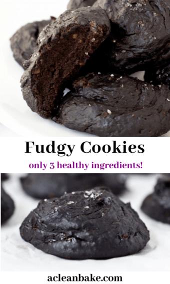 3 Ingredient Cookies Fudgy Gluten Free Vegan Paleo A