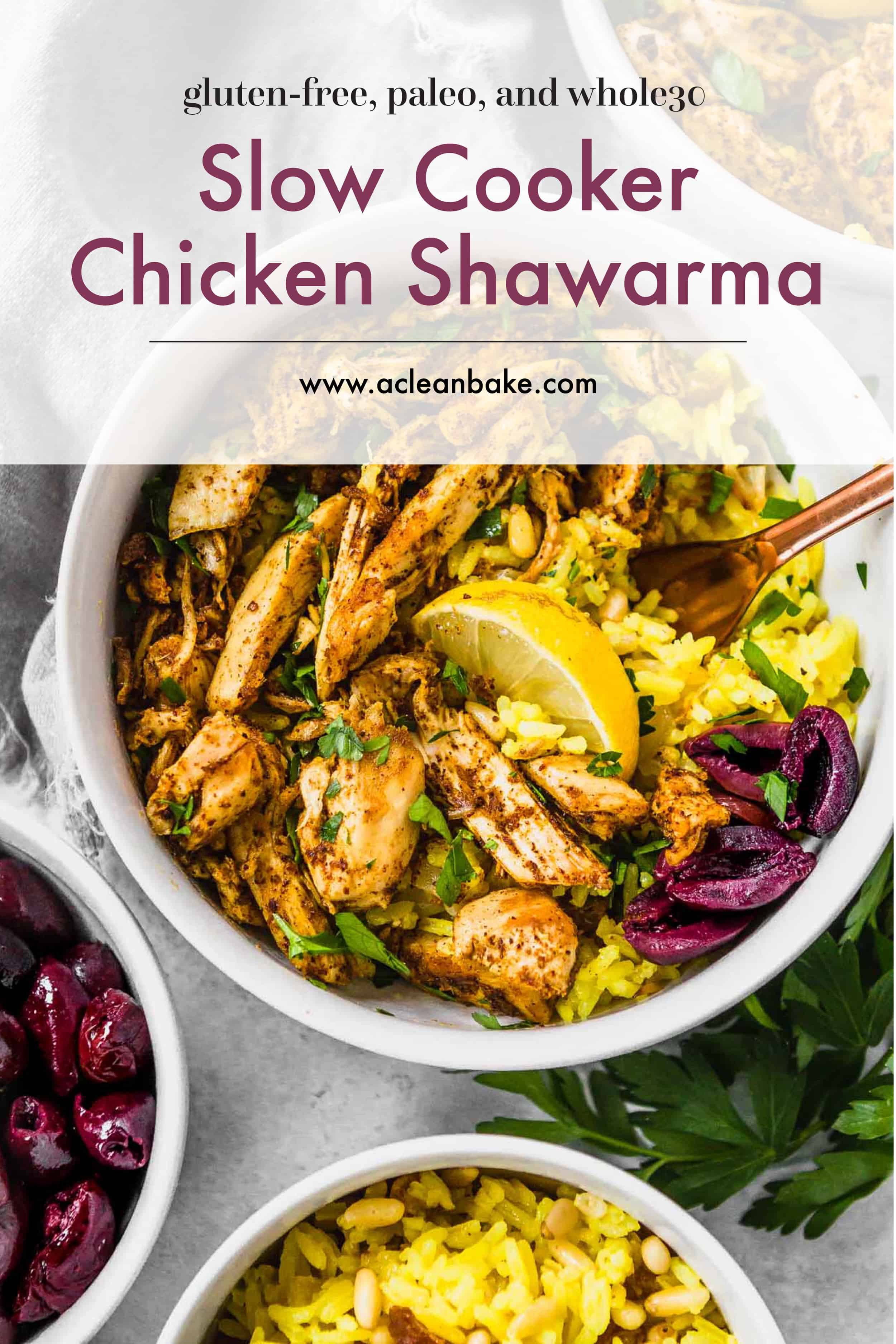 Slow Cooker Chicken Shawarma Gluten Free Paleo And