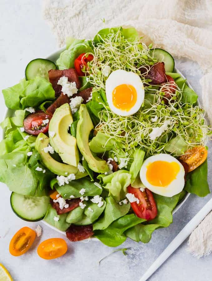 Cobb Green Goddess Salad (Low Carb & Whole30 Adaptable)