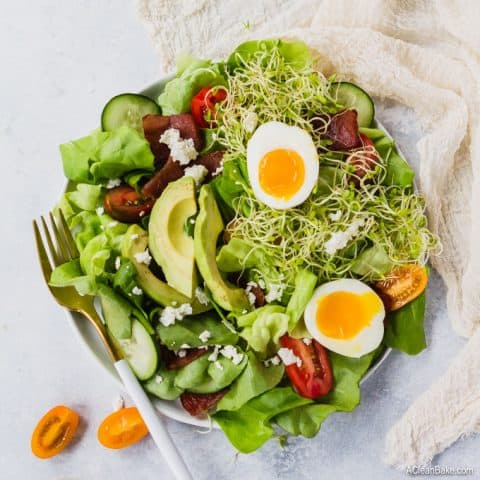 Cobb Green Goddess Salad (gluten free, paleo, healthy)