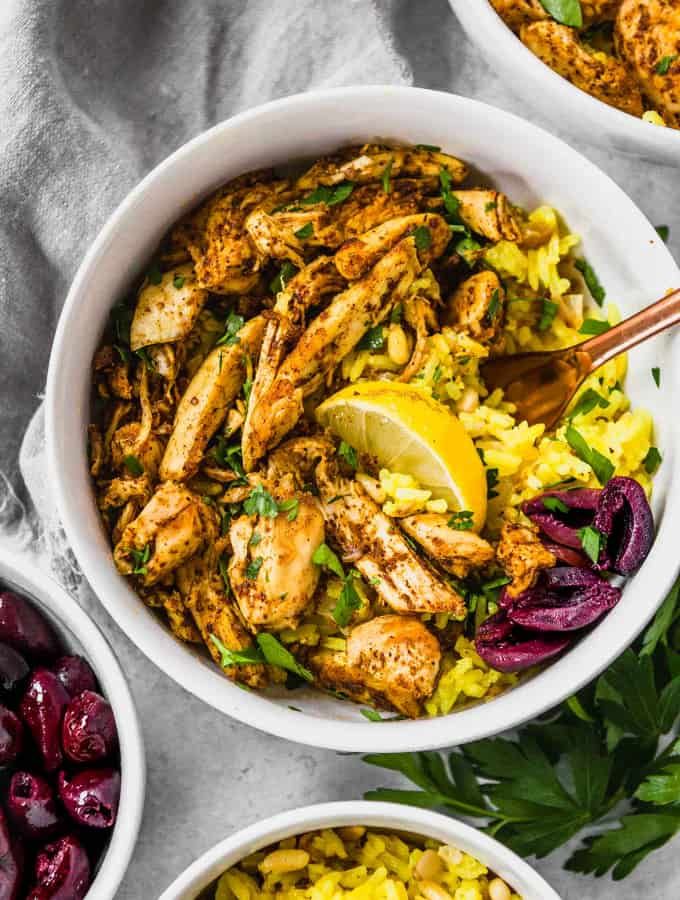 Slow Cooker Chicken Shawarma/Shwarma (Whole30)