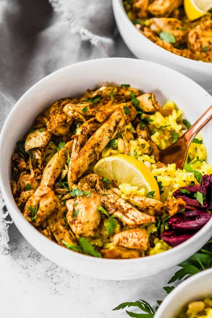 Slow Cooker Chicken Shawarma (Gluten free, Paleo, Low Carb, Whole30)