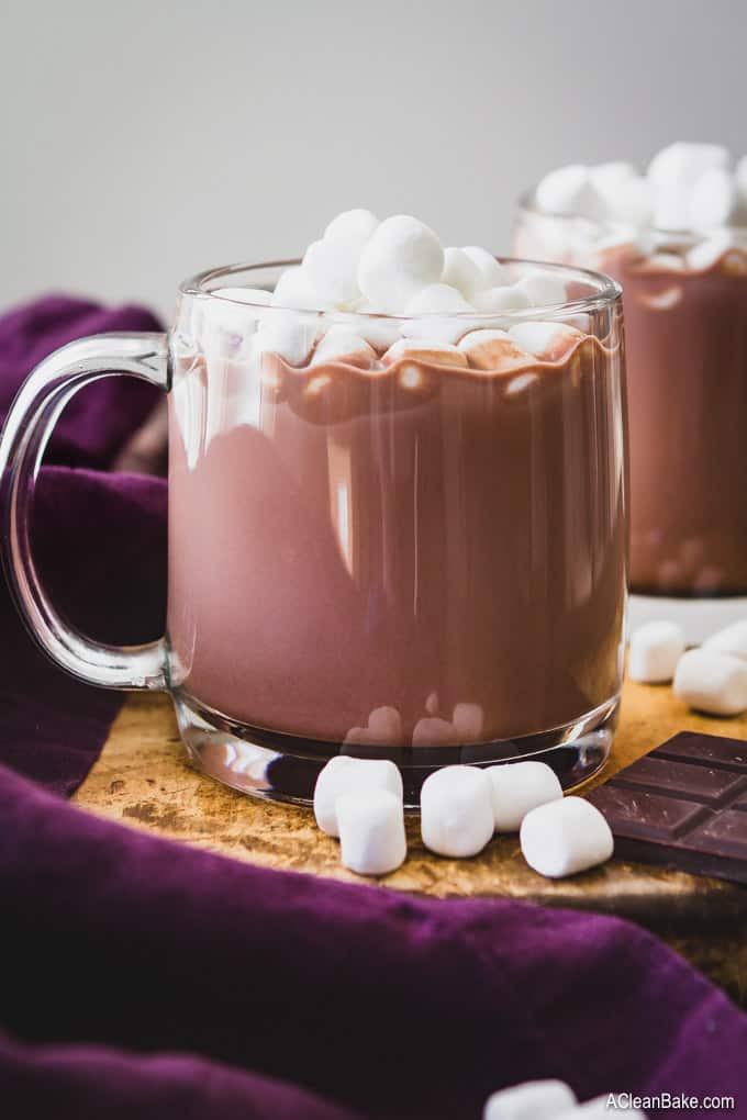 Paleo and Vegan Hot Chocolate From A Homemade Mix (With Low Carb/Sugar Free Option)