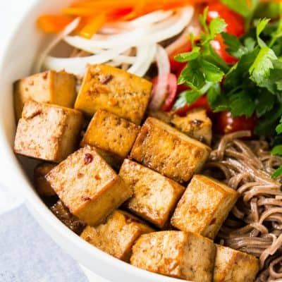 5 Ingredient Baked Tofu Recipe (vegan, gluten free)