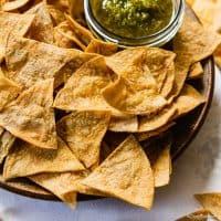 Homemade Gluten Free Tortilla Chips