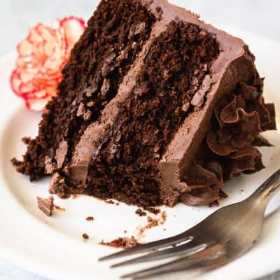 Paleo Chocolate Cake - Supremely moist, dense, and rich - the way a chocolate cake should be. #glutenfree #paleo #grainfree #healthydessert #healthybaking #chocolate #lowcarb #lowcarbdessert #glutenfreedessert #glutenfreecake #paleocake