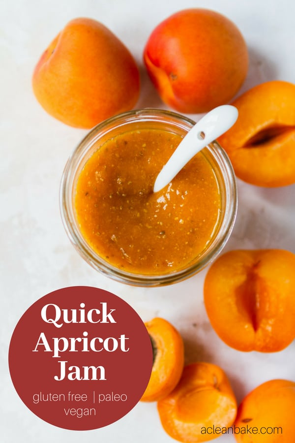 Quick Apricot Jam with Chia Seeds #glutenfree #glutenfreerecipe #paleo #paleorecipe #sugarfree #sugarfreerecipe #vegan #veganrecipe #easyrecipe #snackrecipe #healthyrecipe #healthysnack