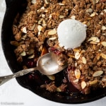 Raspberry Nectarine Crisp (gluten free, paleo, and vegan)