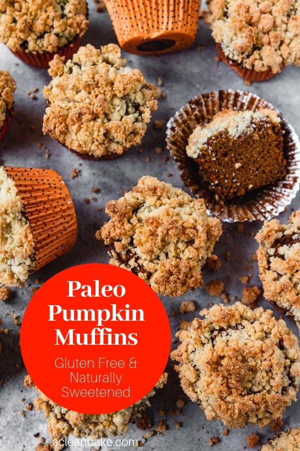 Paleo pumpkin muffins are an easy, healthy, delicious fall treat that pairs perfectly with a cup of tea or coffee! They're also gluten free and naturally sweetened. #glutenfree #glutenfreemuffins #glutenfreerecipes #dairyfreerecipes #paleorecipes #paleo #paleobreakfast #paleomuffins #paleopumpkin #Paleopumpkinrecipes #healthyrecipes #healthybreakfast #healthydessert #Pumpkinmuffins #flourlesspumpkinmuffins #easypumpkinmuffins #healthymuffins #healthypumpkinmuffins