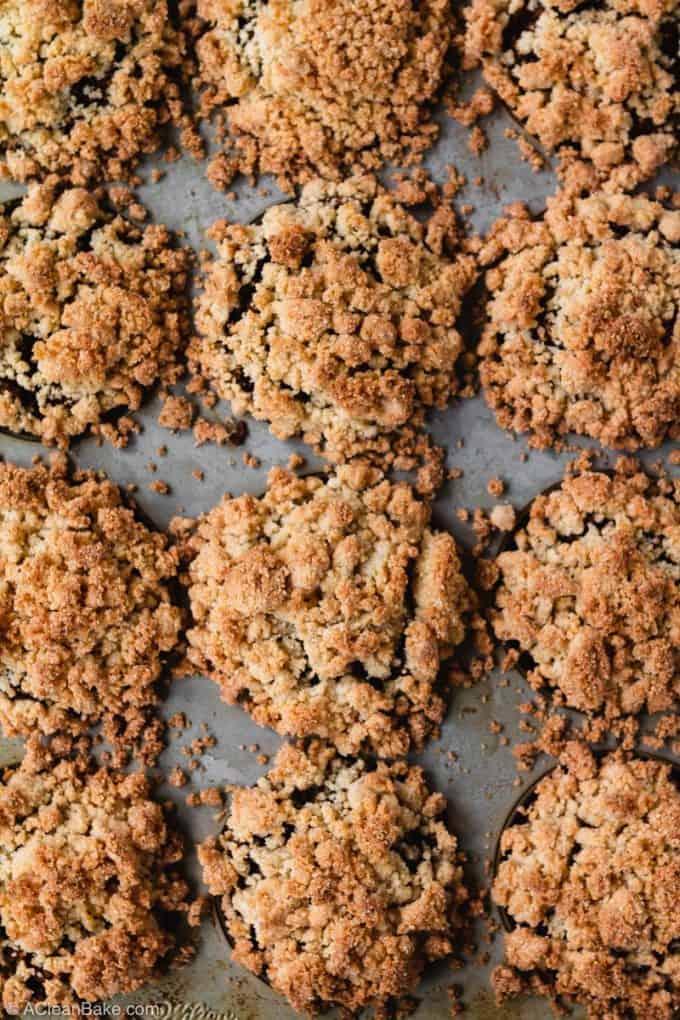 Pan of Paleo Pumpkin Muffins (gluten free)